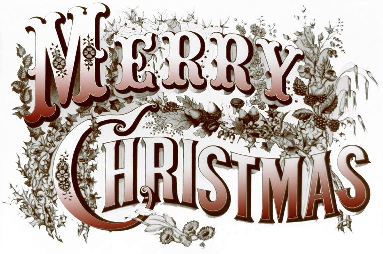 Merry Christmas Vintage Banner And Happy New Year 2018
